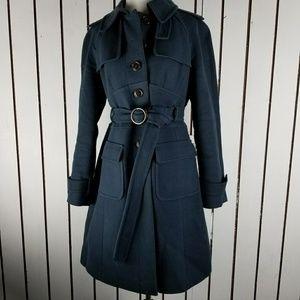 LOFT mavy trench coat navy size 4